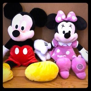 Mickey and Minnie Mouse Plushies